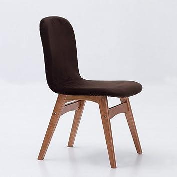 FuweiEncore Chaise à manger en bois massif Chaise à la maison ...