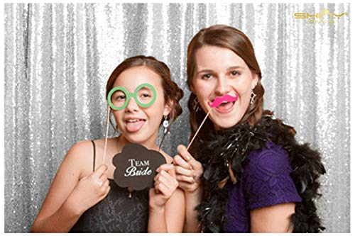 4FT7FT Silver Sequin backdrops, Sequin Photo Booth Backdrop, Party backdrops, Wedding backdrops, Sparkling backdrops, Christmas Decoration]()