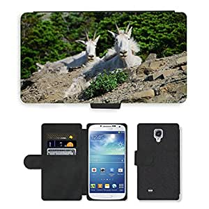 Hot Style Cell Phone Card Slot PU Leather Wallet Case // M00108417 Mountain Goats Montana // Samsung Galaxy S4 S IV SIV i9500