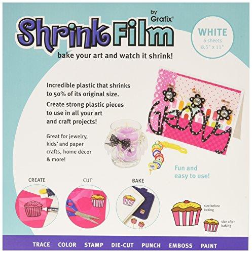 Graphix Shrink Film, White, 8.5x11, 6ct