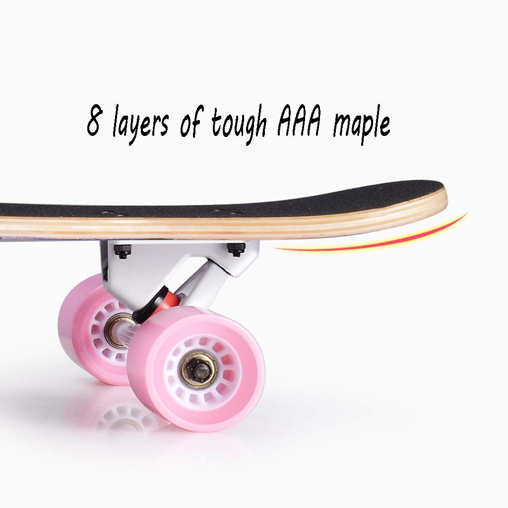 HXGL-Skateboard Skateboard Longboard Four-Wheeled Scooter Beginner Girls Boys Professional Adult Brush Hip-hop Board Youth (Color : Black) by HXGL-Skateboard (Image #5)