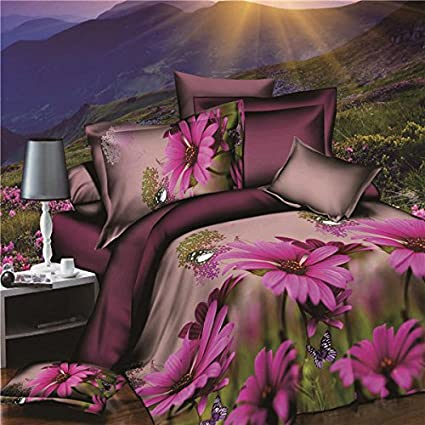 Bazaar 4pcs satisfacen la fibra de poliester 3ra flor del ...