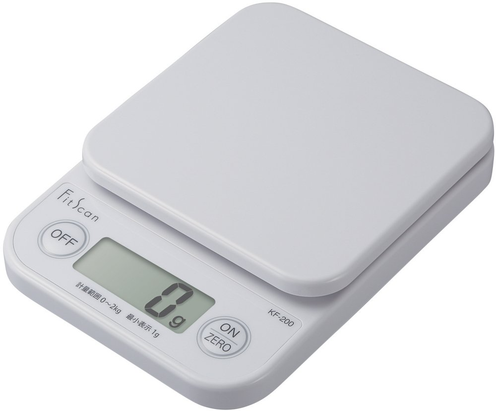 Tanita - Báscula de Cocina Digital (2 kg/1 g, KF 200 Unidades), Color Blanco: Amazon.es
