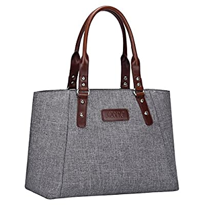 S-ZONE Women's Leather Handbags Lightweight Large Tote Casual Work Bag