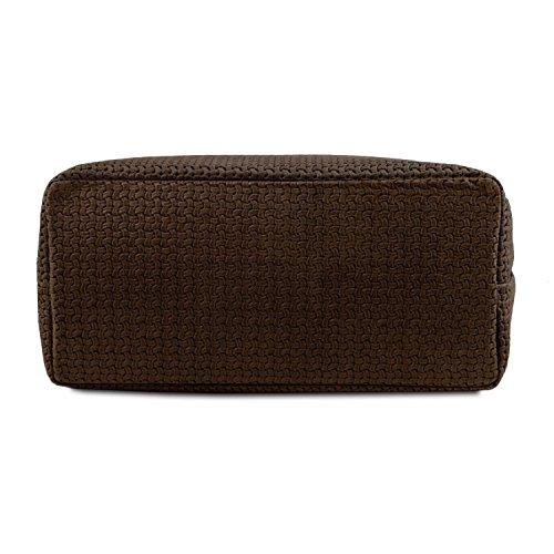 Marron Sac en Foncé TL KeyLuck shopping tressé Noir Tuscany imprimé Leather cuir TL141573 wFZqnPPSx