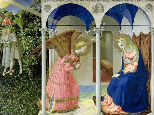 Poster 40 x 30 cm: The Annunciation de FRA Angelico/Bridgeman Images - Reproduction Haut de Gamme, Nouveau Poster