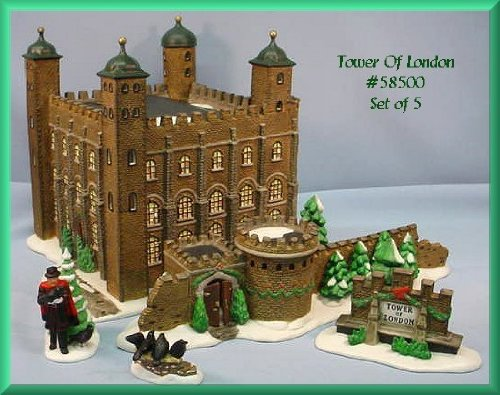 Dicken's Village ''Tower Of London'' Porcelain Building Dept.56 by DICKENS VILLAGE SERIES