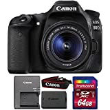 Canon EOS 80D 24.2MP DSLR Camera with 18-55mm IS STM Lens and 64GB Memory Card