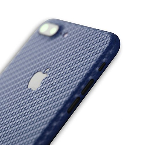 AppSkins Rückseite iPhone 7 PLUS Full Cover - Carbon blue