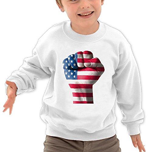 TAGSE Love USA Funny Logo DIY Customized Print Cool O-Neck Long Sleeve T-Shirt Kids Sweatshirts by TAGSE