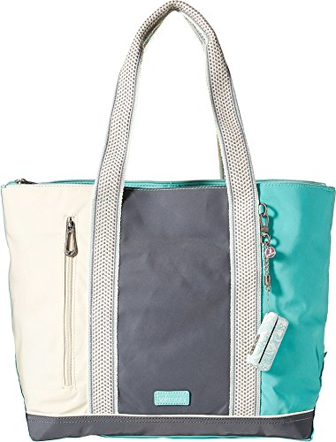 New Tote - Sakroots Finch Large Tote, Seafoam Flower Power