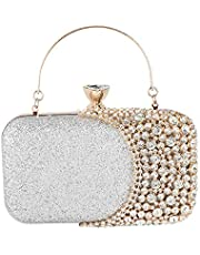 Womens Crystal Evening Clutch Bag Wedding Purse Bridal Prom Handbag Party Bag