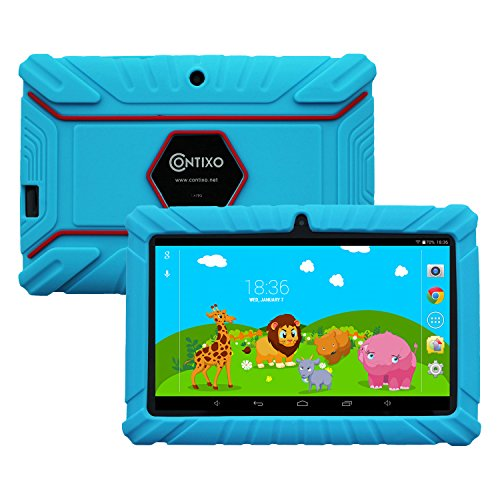 Contixo LA703 7-Inch 8 GB Tablet with Kids-Place Parental Control and Kid-proof Case (Blue)