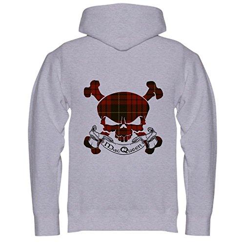 CafePress MacQueen Tartan Skull Hooded Sweatshirt - Pullover Hoodie, Classic & Comfortable Hooded ()