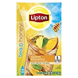 Lipton Tea and Honey Iced Tea To Go Packets, Mango Pineapple, 10 ct