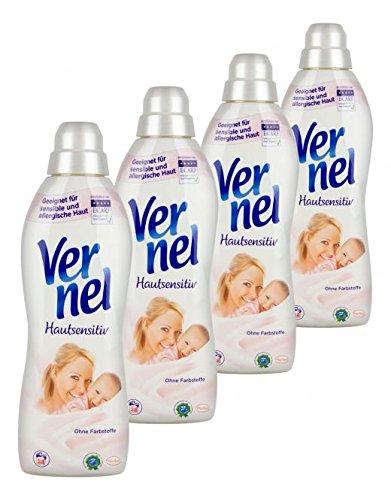 Vernel Weichspüler Hautsensitiv, 4er Pack. (4 x 1 Liter)