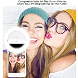 Fitsion Upgraded Version Selfie Ring Light, Generic Rechargeable Clip Camera 3-Level Brightness 36 LED Selfie Fill Light for iphone Android Phone Tablet iPad Laptop