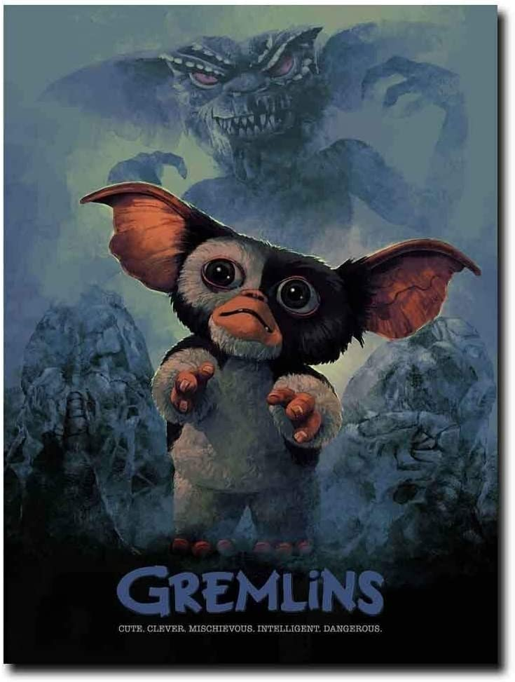 Gremlins Classic Movie Poster Wall Decoration Art Print - No Frame (24 x 36)