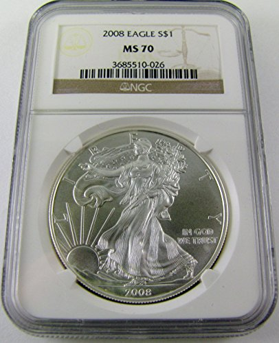 2008 American Silver Eagle $1 MS70 NGC