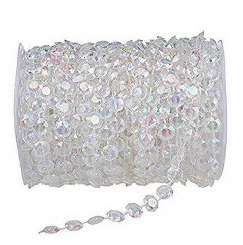 Kaputar 99FT(30M) Acrylic Diamond Garland Strands Crystal Beads Curtain Decor | Model WDDNG -1056