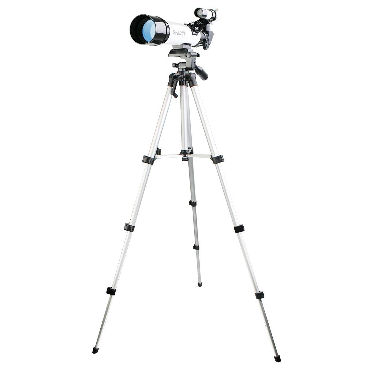 我慢する対処チューリップMIZAR(ミザールテック) 天体望遠鏡 屈折式 50mm 口径 コンパクトタイプ 経緯台 三脚 セット ブルー AR-50BL
