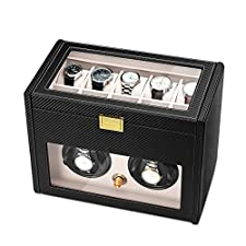 JQUEEN Double Watch Winder with 10 Storages