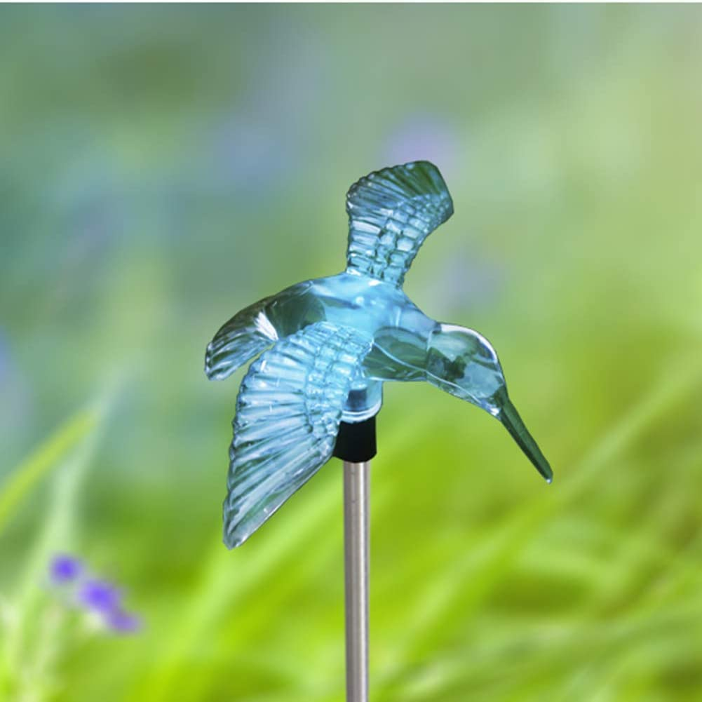 Outdoor Solar Garden Stake Light - Color Changing Decorative LED Stake Lamp In-ground Landscaping Lighting for Garden Patio Yard Lawn Pathway Flower Bed Decor Decorations Figurine Hummingbird