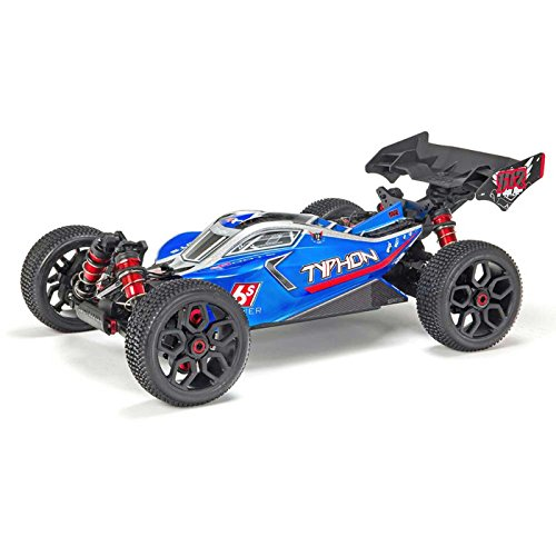 Arrma Typhon 6S Blx Brushless 4WD Rtr Electric Radio Control RC Buggy (Lipo Battery Required), Blue and Silver, 1:8 (Metal Gearbox Receiver)