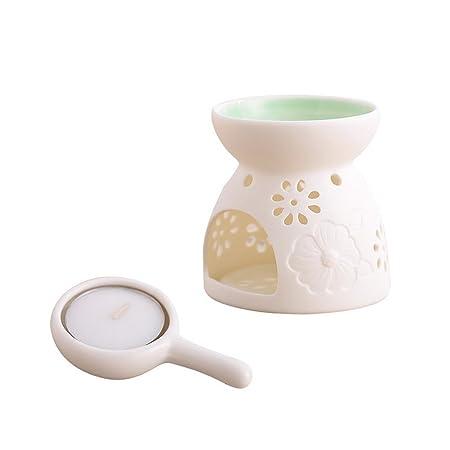 ANONE Ceramics Tealight Holder Vintage Home Decor (Green): Amazon.co ...