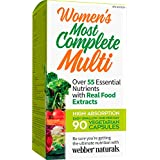 Webber Naturals Most Complete Multi Vitamin Capsules-Women's, 90 Count