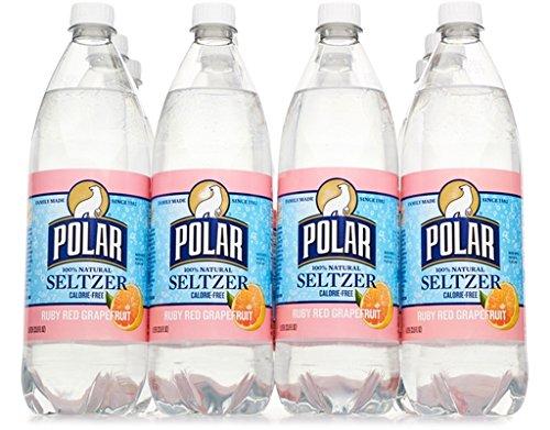 Polar Seltzer 33.8 Fl. Oz, (Pack of 12) (Ruby Red Grapefruit) by POLAR