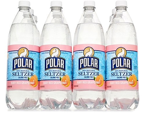 Polar Seltzer 33.8 Fl. Oz, (Pack of 12) (Ruby Red Grapefruit) made in New England