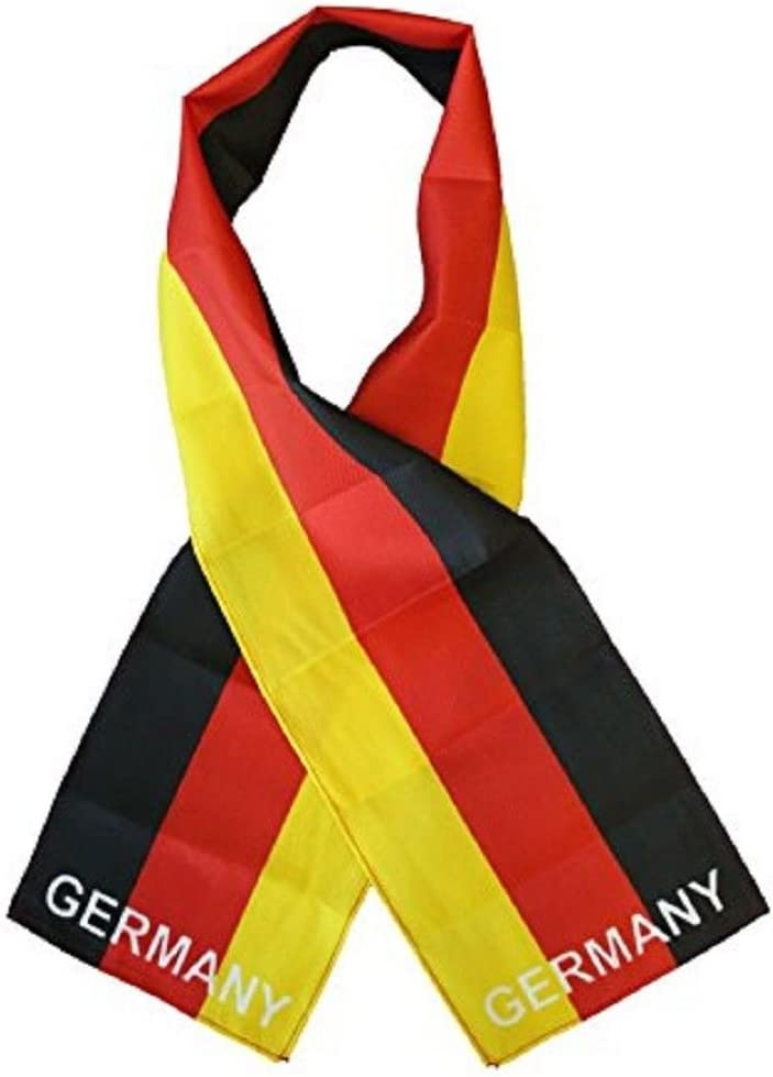 Ks Novelties Germany German Country Lightweight Flag Printed Knitted Style Scarf