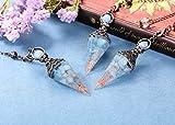 PESOENTH Aquamarine Dowsing Pendulum Crystal