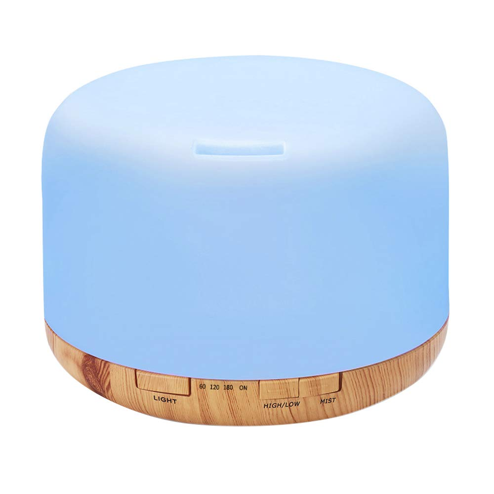 COSSCCI Aromatherapy Essential Oil Diffuser Humidifier, 500ML Ultrasonic  Cool Air Mist Humidifier with Remote Control, Auto Shut-Off, Timers Setting