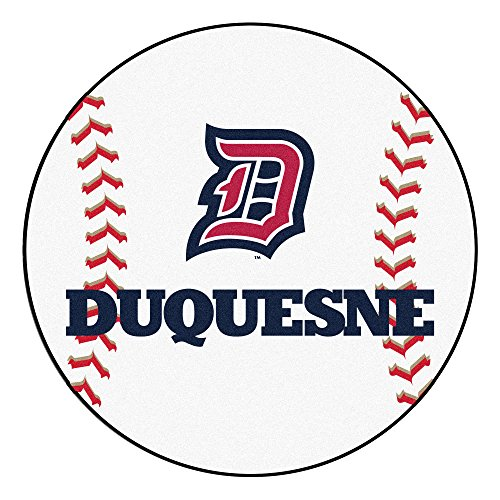 NCAA Duquesne University Dukes Baseball Shaped Mat Round Area Rug