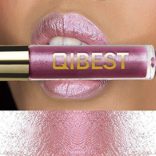 Sky Lipsticks MEIQING Women Glitter Waterproof Long Lasting Lip Gloss Bold Vivid Colorful Lipgloss Glitter Shimmer Lipstick Lip Kit (#19)