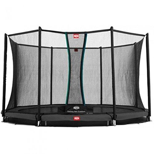 Berg® Trampolin InGround Favorit mit Sicherheitsnetz Comfort, ø 3,30 m, Randbezug Grau