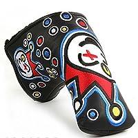 Joker, Clown Style Custom Golf Blade Putter Head Cover, Red, Black, Green or Blue