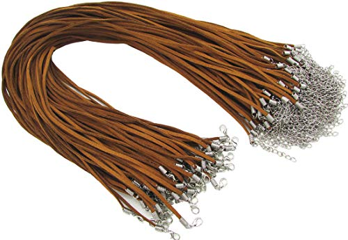 icro-Fiber Flat Leather Lace Beading Thread Faux Suede Necklace Cord 18
