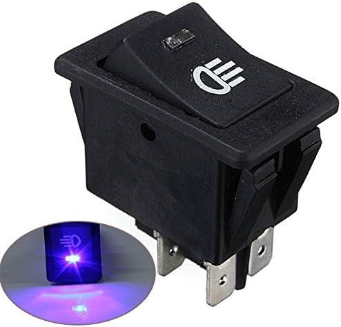 AUDEW 12V Universel Anti-brouillard Interrupteur /à bascule Bleu LED Lampe pour voiture-Bleu