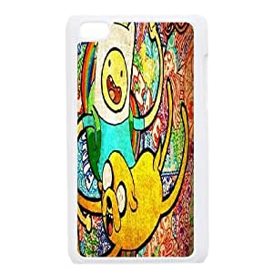 ZK-SXH - Adventure Time Cartoon Diy Cell Phone Case for iPod Touch 4,Adventure Time Cartoon Personalized Cell Phone Case