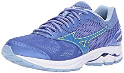 Mizuno Women's Wave Rider 21 Running Shoe, Baja Bluedazzling Blue, 9 B Us