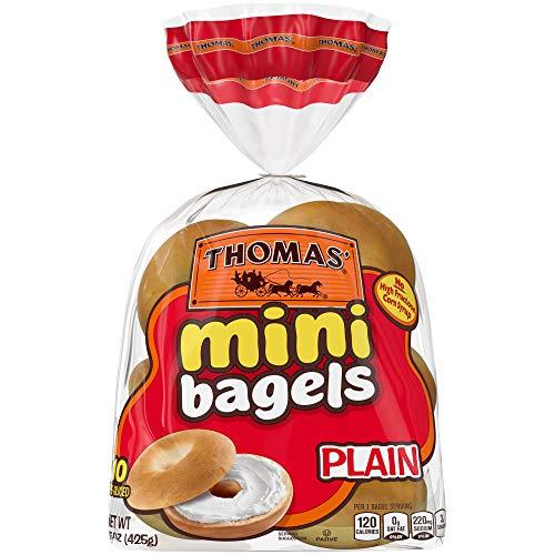 Thomas Plain Mini Bagels, 10 Count