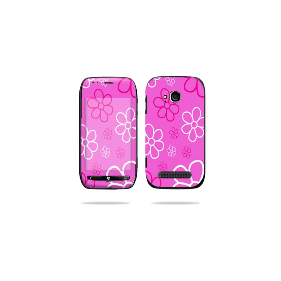 Protective Vinyl Skin Decal Cover for Nokia Lumia 710 4G Windows Phone T Mobile Cell Phone Sticker Skins Flower Power Cell Phones & Accessories
