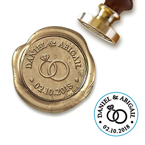 Personalized Wedding Seals - Custom Wax Seal Stamp Kit with Sealing Wax-1