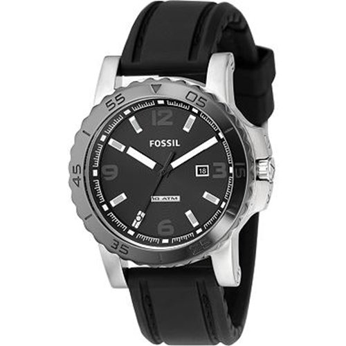 Fossil Ceramic Topring Black Dial Watch