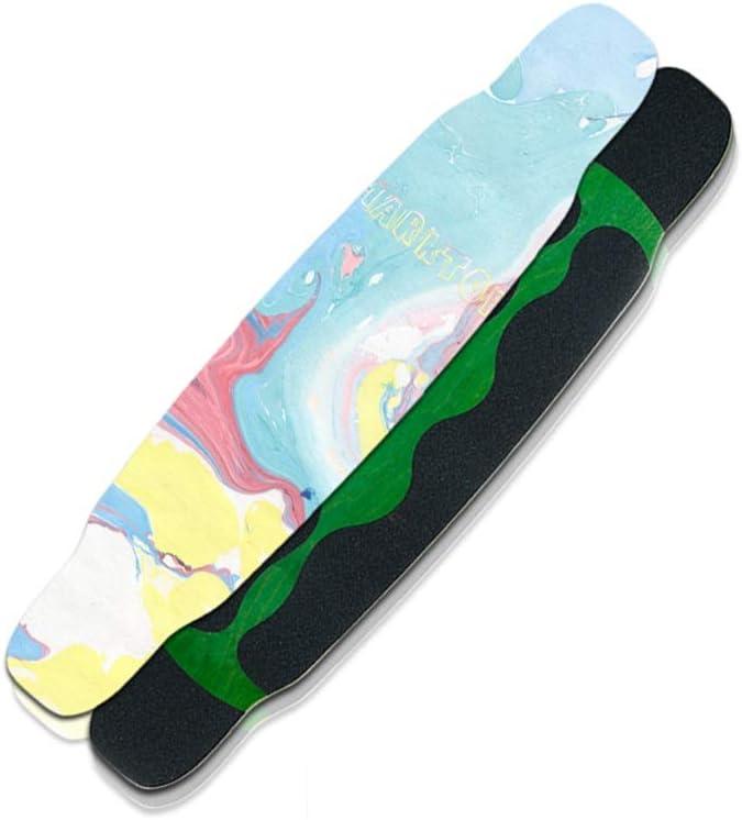 LINGLING-スケートボード ロングボードコンプリートスケートボード46インチプロフェッショナルブラシストリートダンスボード初心者四輪スクーター大人青年 青