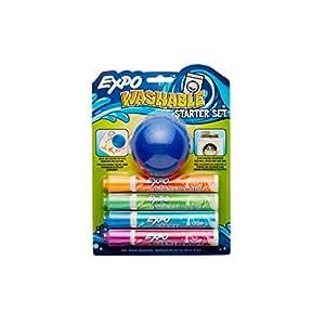Amazon.com : EXPO Washable Dry Erase Kids Set, Bullet Tip