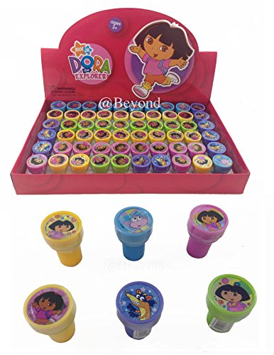 New! (60ct) Disney Dora the Explorer Stamps Stampers Self-inking Party Favors -